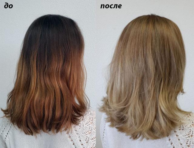Цитрус полюбили блондинки, которые испортили волосы при химическом обесцвечивании, а отказаться от осветления отрастающих корней они не смогли